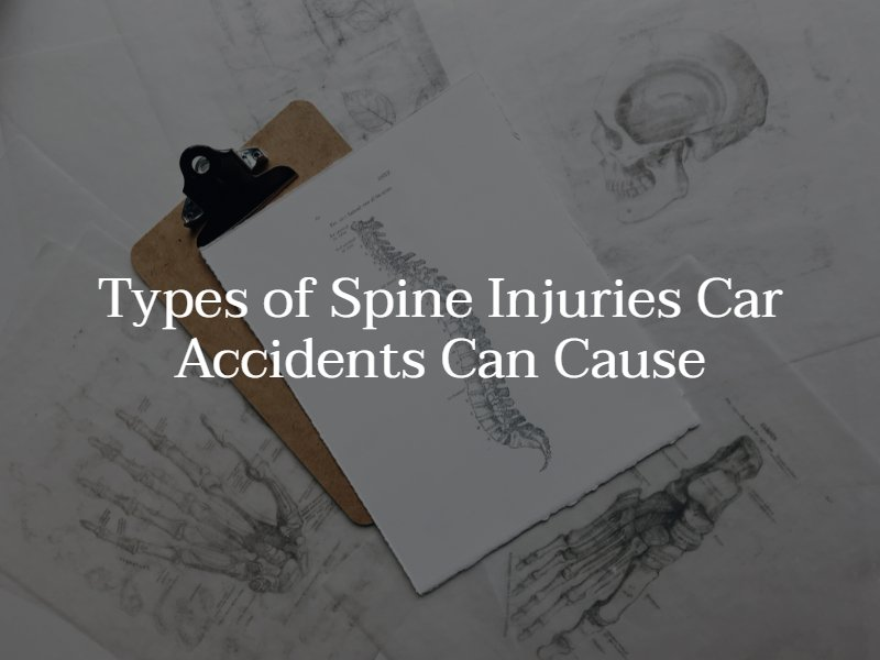 common spine injuries from car accidents
