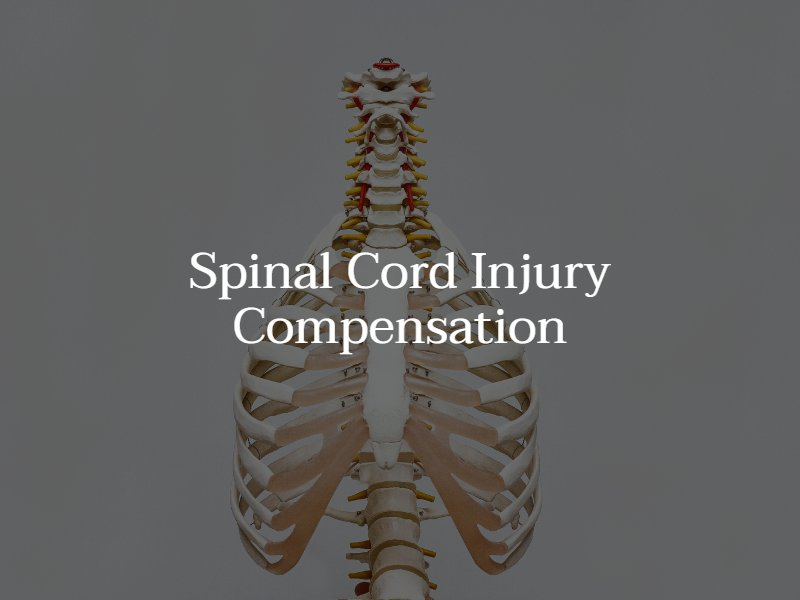 how much is a spinal cord injury worth